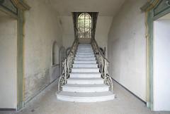 Villa Stresa (Sean M Richardson) Tags: abandoned villa italia architecture staircase symmetry travel explore color light canon photography decay details texture
