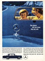 1962 Mercedes-Benz 220S W111 International Original Magazine Advertisement (Darren Marlow) Tags: 1 2 6 9 19 62 1962 220 220s s m mercedes b benz sedan saloon c car cool collectible collectors classic a automobile v vehicle g germany german e european europe 60s w 111 w111