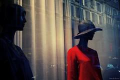 What's your name (Loran de Cevinne) Tags: lorandecevinne pentax paris vitrine street quartierlatin mannequins france chapeau profil clairobscur