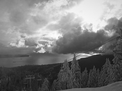 (heinrichj) Tags: canada north america british columbia vancouver grouse mountain monochrome bw winter snow