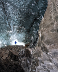 Another World (JH Images.co.uk) Tags: iceland icecave cave ice entrance person glow hdr dri rock standing glacier iceformation