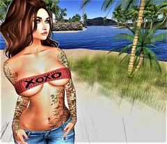 ❌⭕️❌⭕️ (♥✭ Cin Coage ✭♥) Tags: secondlife sl sexy truth maitreya beach blueberry brunette beautiful pose woman tattoo