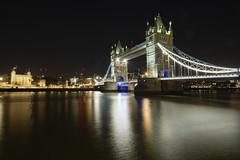 Tower Bridge (virtual-stu) Tags: london england uk city thames river tourism night landmark cityscape castle ship shoreline reflection still calm quiet dark bridge sparkling buildings skyscraper illumination illuminate
