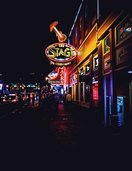Broadway Street in Nashville (J. Alex Cucchi) Tags: grain fade street stage t broadway iphonexs mood vsco color lights neon country countrymusic nashville thestage travel iphone