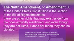 The enumeration in the Constitution, of certain rights, shall not be construed to deny or dispaged others retained by the people. (Wonderlane) Tags: theenumerationintheconstitution ofcertainrights shallnotbeconstrucedtodenyordispagedothersretainedbythepeople the ninth amendment or ix united state constitution is section bill rights that states there other may exist aside from ones explicitly mentioned even though they listed it does mean can be violated construed shallnotbeconstruedtodenyordispagedothersretainedbythepeople pink purple