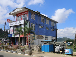 Colin's Restaurant - a blue building - Nuwara Eliya Sri Lanka