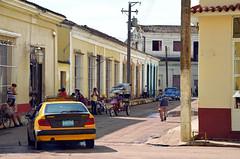 Vida Remedios (emerge13) Tags: remedioscuba cuba street people human candid classiccars architecture streetlife bicitaxi citroën cars travel humans perspective