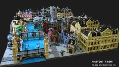 Paris 1889 (CASTOR-TROY) Tags: paris steampunk 1889 diorama lego seine pont bridge alexandre