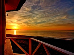 Amanecida (camus agp) Tags: cielo nubes mar calma mediterráneo amanecer movil huawei
