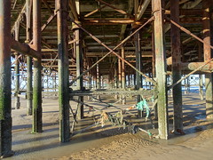 Beneath the pier or Boardwalk at Blackpool (j.a.sanderson) Tags: pier boardwalk central blackpool centralpier structure castiron beach