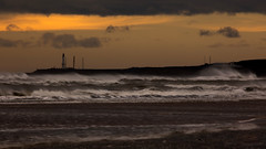 Girdleness Lighthouse (PeskyMesky) Tags: aberdeen aberdeenshire lighthouse girdleness storm scotland weather water sky red wave sea ocean landscape canon canon5d eos