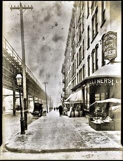 Ninth Avenue El, Manhattan, north from the northeast corner of W. 95th Street, 1891.