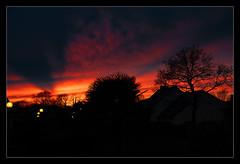 Crépuscule sur le lotissement (Coach du bleu) Tags: france ciel séné morbihan continentsetpays hiver bretagne europe coucherdesoleil saison frbre