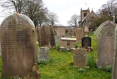 Gravestones, St Peter's Church, Addingham, West Yorkshire, England. (Nigel L Baker) Tags: gravestones church addingham yorkshire