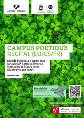 Campus Poétique 2019 (EHUkultura) Tags: ehu upvehu ehukultura donostia