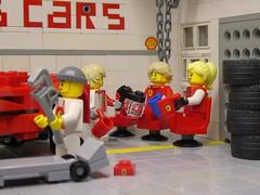 Teamwork (captain_joe) Tags: sooc toy spielzeug 365toyproject lego minifigure minifig car auto 6wide speedchampions ferrari f40 joescars mikethemechanic