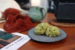 2019-2-24 Matcha cookies with almonds (vegan)