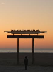 Down on the beach (chtimageur) Tags: statues beach sunset zen plage sculptures art great nature landscape end day canon 6d 50 18 ii zeebrugge belgium