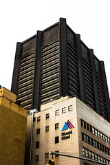 Too bad the cladding isn't weathering as nicely as say, the old US Steel Tower down in FiDi (wwward0) Tags: architecture cc hospital logo manhattan nyc outdoor overcast sign text tower uppereastside windows wwward0