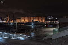 A Royal Guard (alundisleyimages@gmail.com) Tags: royalalbertdock liverpool night longexposure landscape architecture maritime docks ships navy nato bigwheel weather tourism thepumphouse minesweeper sailingship city sky stars uk ports harbours moorings attraction destination