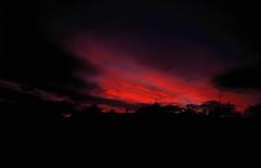 Skies of Fire (Warm Seas) Tags: sunset 35mm film velvia velvia50 fujivelvia50 england english pentaxmesuper pentax mesuper me super red colour colourful beauty beautiful blue fiery fire photography filmphotography