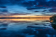 Serious Reflections (Bill Ferngren) Tags: archipelago bill calm colorful colors dark ferngren landscape light myname nature nighttime rangsta sun sunset sweden view water yellow seascape sky reflections waterreflections longexposure nynäshamn