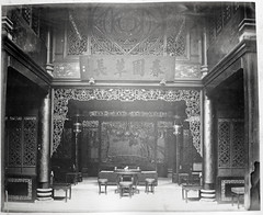 Hotz collection: A Wealthy Chinese Room, ca. 1870 (Charles in Shanghai) Tags: charles shanghai albert hotz albertus paulus hermanus holland china trading company handelscompagnie rotterdam universiteit leiden university bibliotheek bijzondere collecties special collections early photography libslibs librariesandlibrarians hchc haagsche courant nrc delphernl perzië john thomson london mattie boom rijksmuseum everyoneaphotographer exhibition gwulo guangzhou kanton canton bw blackandwhite monochrome chinese interior furniture architecture