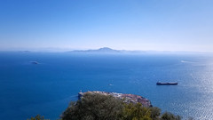 Strait of Gibraltar (180abroad) Tags: travel morocco blue day gibraltar strait view landscape ocean sea water