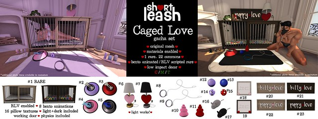 .:Short Leash:. Caged Love gacha set