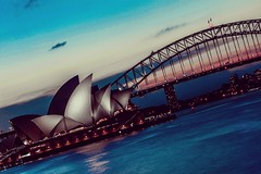 Sydney's Last Light (dltaylorjr) Tags: sydney sydneyharbor australia bridge operahouse downunder travelphotography canon60d canonphotography landscapephotography seascape outdoorphotography coastalwaters waterfront sunset worldtrekker