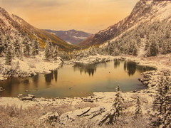 amazing beautiful picture ... photo from the exhibition (VERUSHKA4) Tags: canon europe russia forest lake mountain water montagne eau vue view landscape hiver winter wintertime coldseason ciel reflection tree nature exhibition photography moscowhouseofartists february grass perspective sky snow neve neige blanc white primevalrussia scape wildnature astoundingimage