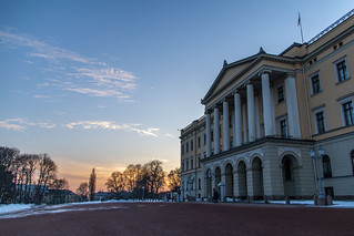 At the palace during sunset