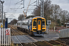 Smart Move (whosoever2) Tags: uk united kingdom gb great britain england nikon d7100 train railway railroad february 2019 alsager cheshire crewe nevillehill leeds northernrail class158 158849