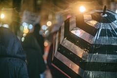 U Street (Mike J Maguire) Tags: jupiter350mmf15 washingtondc ustreet ustreetdc umbrella city street urban night rain rainy rainycity sidwalk pedestrian
