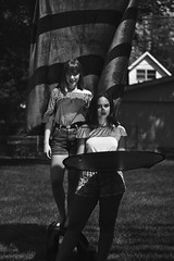 The Barbecue (TheJennire) Tags: photography fotografia foto photo canon camera camara colours colores cores light luz young tumblr indie teen adolescentcontent blackandwhite people portrait naturallight backyard summer carmel indiana usa eua unitedstates friends girls