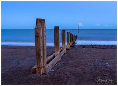 BlueHour at Teignmouth Beach, Devon (simondayuk) Tags: devon goodrington paignton groyne southwest uk southwestuk seascape coast coastal seaside tourism beach sea ocean travel clouds teignmouth sunset bluehour