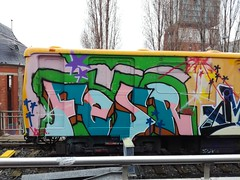 Berlin (Thomas_Chrome) Tags: berlin germany train subway metro ubahn panel wholecar married couple graffiti streetart street art spray can europe illegal moving target