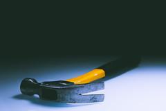 *** (donnicky) Tags: blackbackground closeup dark hammer hand horror indoors publicsec singleobject stilllife studioshot table tools yellow