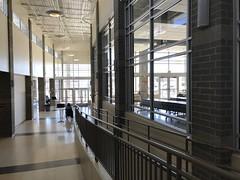 Hallway (f l a m i n g o) Tags: school hallway window cafeteria percussion