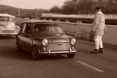 Austin Mini Cooper S 1964, HRDC Track Day, Goodwood Breakfast Club (3) (f1jherbert) Tags: sonya68 sonyalpha68 alpha68 sony alpha 68 a68 sonyilca68 sony68 sonyilca ilca68 ilca sonyslt68 sonyslt slt68 slt sonyalpha68ilca sonyilcaa68 goodwoodwestsussex goodwoodmotorcircuit westsussex goodwoodwestsussexengland hrdctrackdaygoodwoodmotorcircuit historicalracingdriversclubtrackdaygoodwoodmotorcircuit historicalracingdriversclubgoodwood historicalracingdriversclub hrdctrackday hrdcgoodwood hrdcgoodwoodmotorcircuit hrdc historical racing drivers club goodwood motor circuit west sussex brown white sepia bw brownandwhite