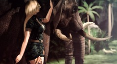 Kya (VeraCruza) Tags: scandalize rama secondlife fashion virtualworld bloomevent shinyshabby jungle elephant maitreya juna
