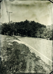 Piuma Road (Blurmageddon) Tags: largeformat wetplatecollodion epsonv700 alternativeprocess oldworkhorsecollodion 5x7 alumitype tintype osaka120mmf63 senecaimprovedview malibu california