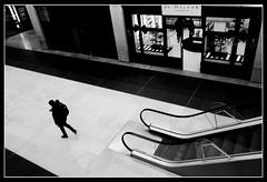 MetQuarter. Liverpool (ronramstew) Tags: liverpool merseyside uk metquarter shopping mall bw blackandwhite