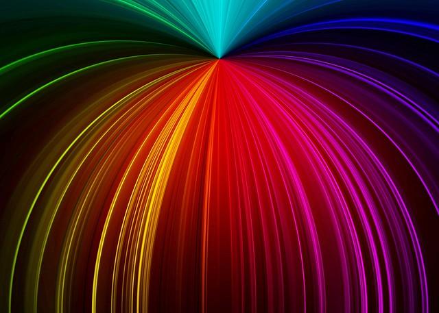 Обои лучи, блеск, разноцветный, линии картинки на рабочий стол, фото скачать бесплатно