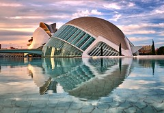The City of Arts and Sciences, Valencia (Vest der ute) Tags: xt20 spain art reflections buildings sky clouds water fav25 fav200