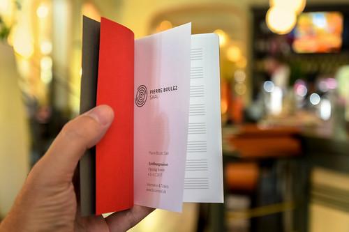 Pierre Boulez Saal: music notebook