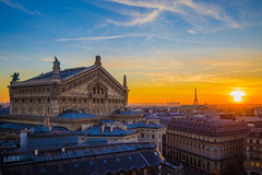 Sunset over paris (Benoit photography) Tags: sunset paris lightroom eiffeltower eiffel tower opera garnier 2019 benoitphotography light exposure