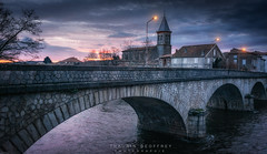 Varilhes dakrness sky (Thaurin Geoffrey Photographie) Tags: france ariège varilhes paysage landscape nature ville cityscape morning sun sunrise light cloud nuage ciel sky water pont sony a7ii love amateur darkness tenebre orage thunderstorm threatening menacant riviere eau lumiere