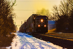Q166 at North East (Troy A. Snead) Tags: cefxac4400cw cefx csxq166 canadianpacific northeastpa lakeshoresubdivision sunsets sunsetphotography trains intermodaltrains