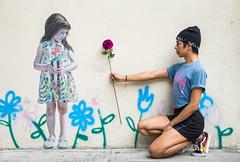 Rupert (KevzR) Tags: mural art wallart streetart girl rose sigma sigmalens a6500 sonya6500 portrait portraits flower